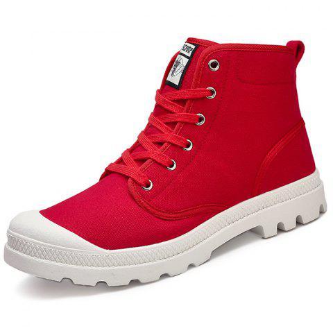 Fashionable Men Wearing-resisting Anti-slip Boots Casual Shoes - LAVA RED 43