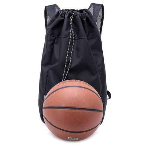 Practical Polyester Backpack for Sport - BLACK