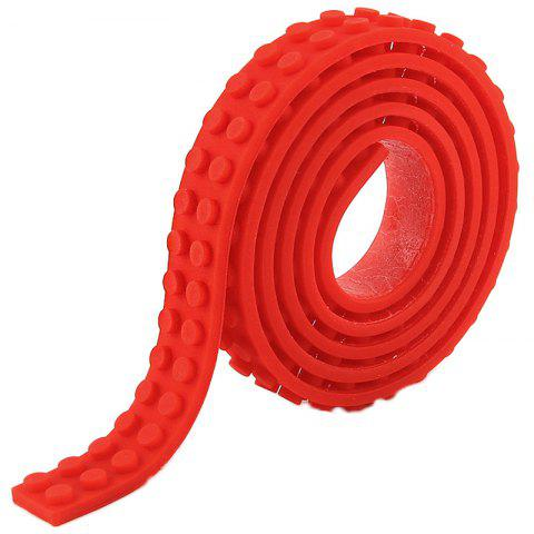 DIY Silicone Building Block Tape Soft Rubber Strip for Kid - FIRE ENGINE RED
