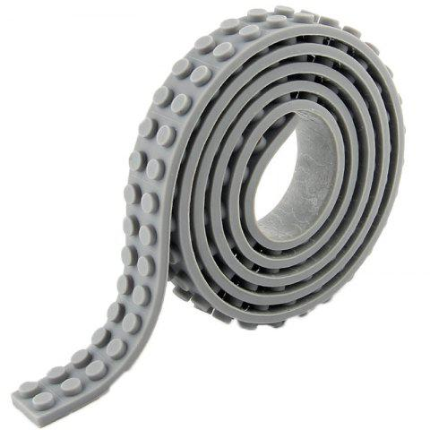 DIY Silicone Building Block Tape Soft Rubber Strip for Kid - GRAY