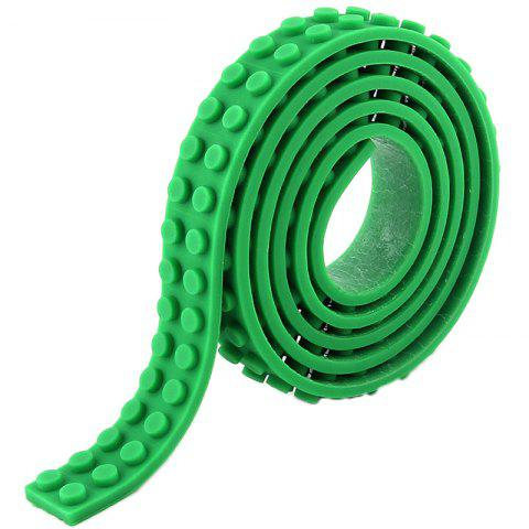 DIY Silicone Building Block Tape Soft Rubber Strip for Kid - GREEN