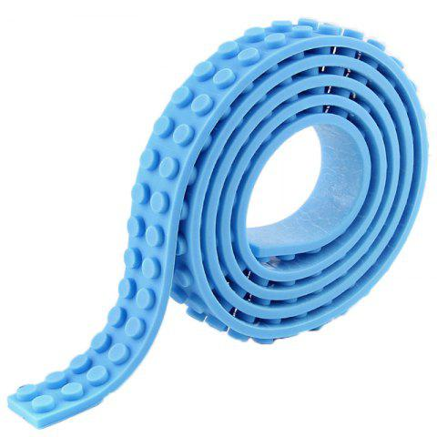 DIY Silicone Building Block Tape Soft Rubber Strip for Kid - LIGHT BLUE