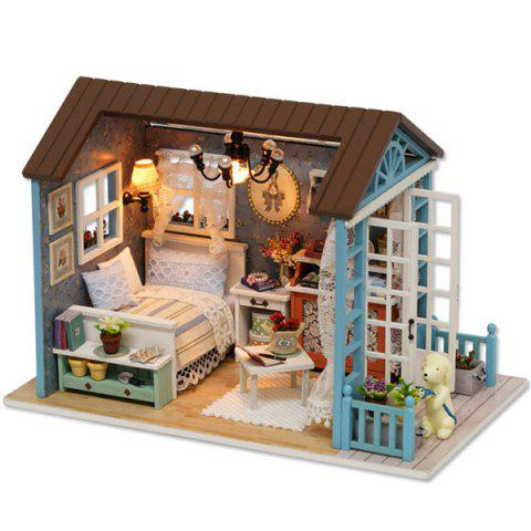 DIY Jigsaw Puzzle Hand-assembled Time Cottage Model Toy Set - multicolor