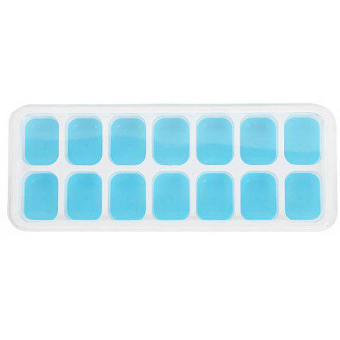 Silicone 14 Cavity Ice Cube Tray Mold for Cocktail Whiskey - BLUE LAGOON