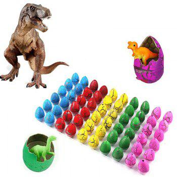 Novelty Colorful Eggs Toys Hatching Dinosaur Grow Easter Dino Egg 60PCS - multicolor