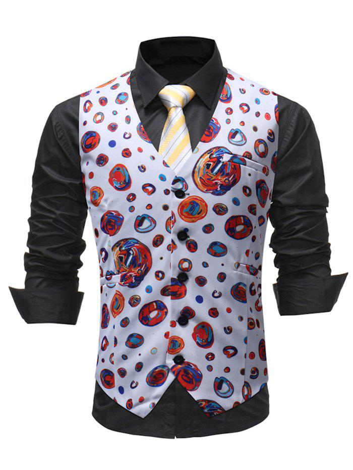 Suit Dress Wedding Vest for Man - WHITE XL