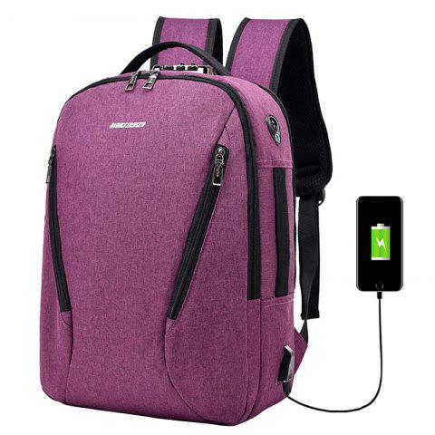 Fashion Elegant Outdoor Big Capacity USB Charging Backpack - BASHFUL PINK
