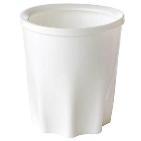 Creative Plastic Household Trash Can with Pressure Ring for Home Organizing - WHITE SIZE M