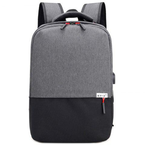 Oxford Fabric Unisex Backpack - SMOKEY GRAY