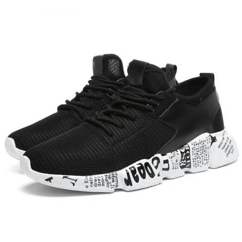 Spring Autumn Casual Breathable Running Sports Shoes - BLACK 46