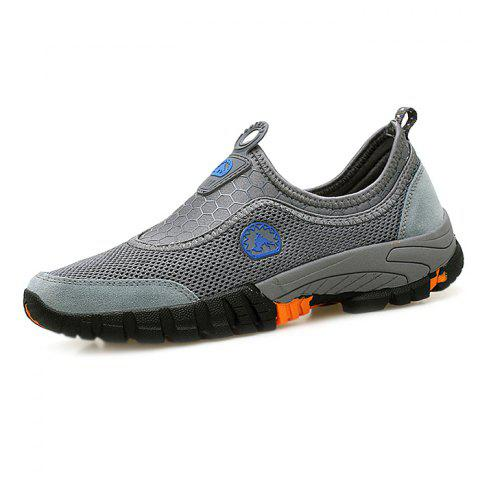 Leisure and Breathability Men's Sneaker - GRAY CLOUD 41