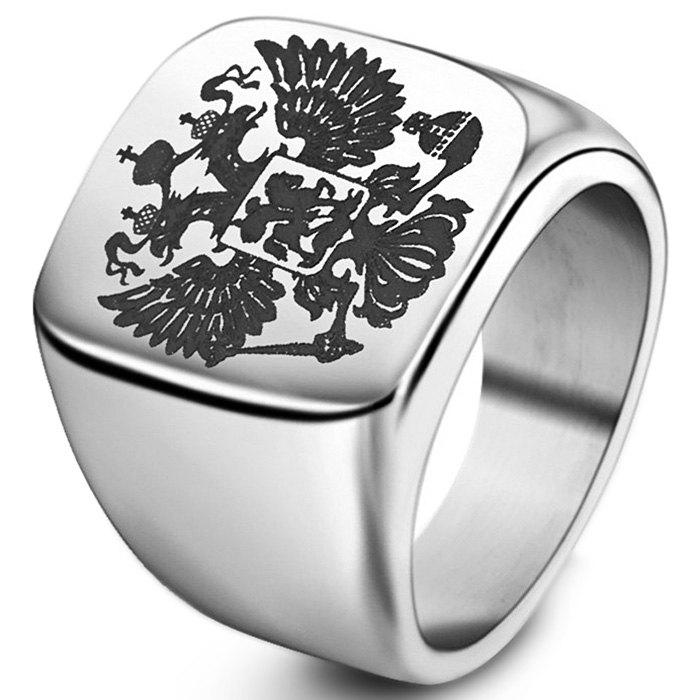Stylish Stainless Double-headed Eagle Ring - SILVER 9