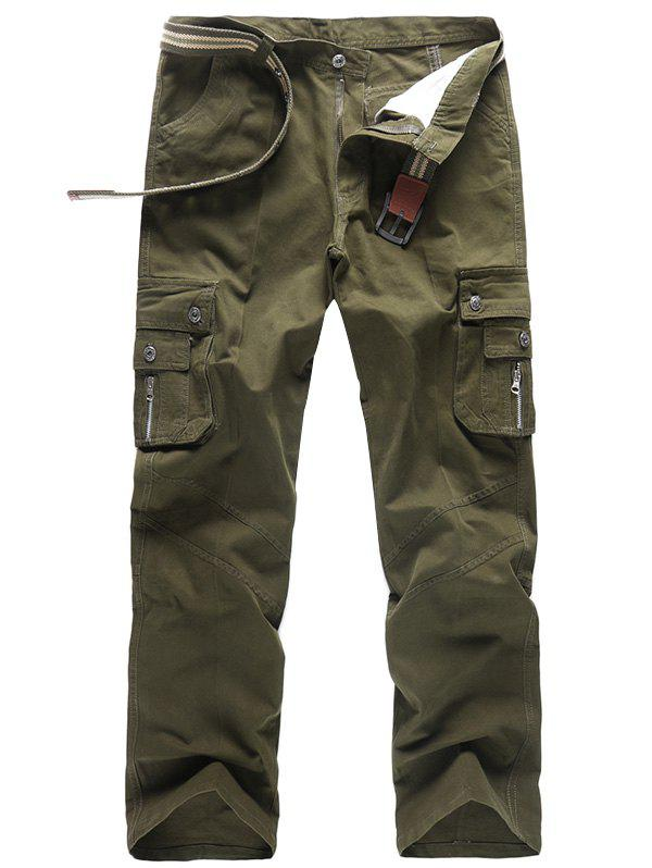 Outdoor Stylish Casual Work Cotton Cargo Pants for Men - ARMY GREEN 31