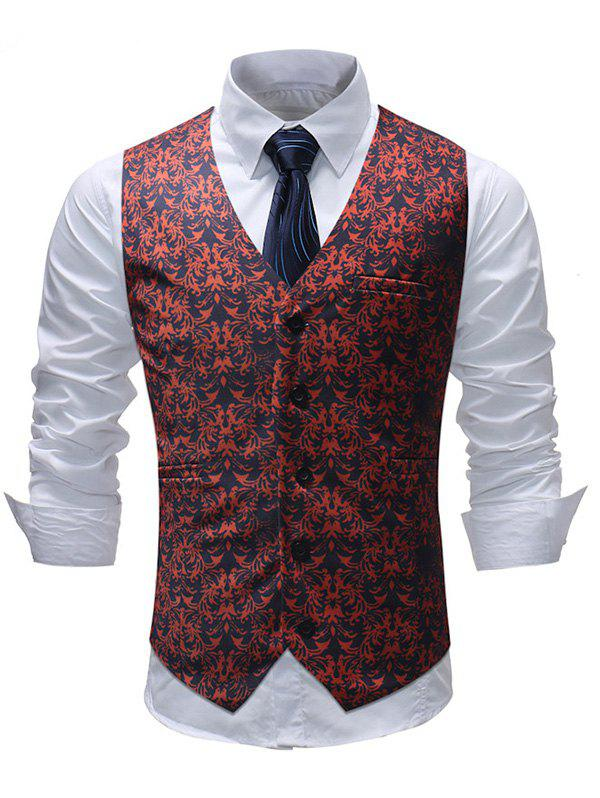 False Two-piece Casual Suit Waistcoat Formal Wear Wedding for Man - multicolor 2XL