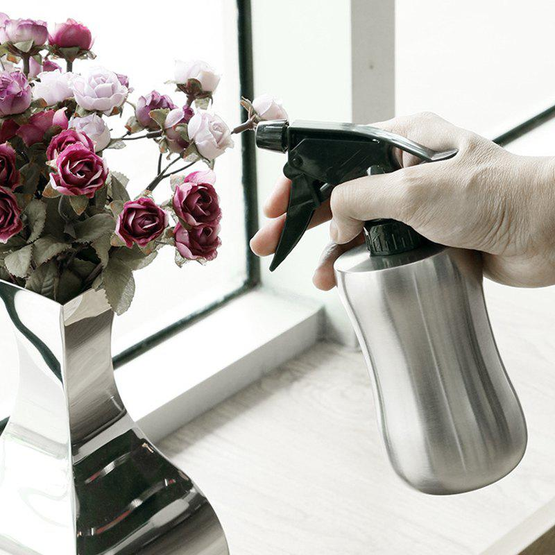 Indoor Stainless Steel Flower Watering Spray Bottle - SILVER