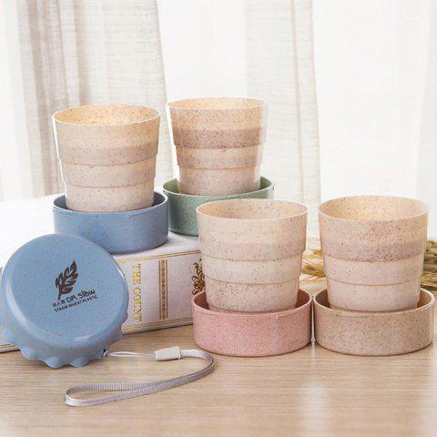 Foldable Wheat Cup for Travel - BEIGE