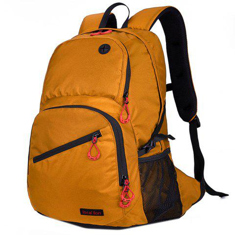 Durable Waterproof Nylon Backpack - GOLDEN BROWN