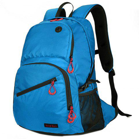Durable Waterproof Nylon Backpack - BUTTERFLY BLUE