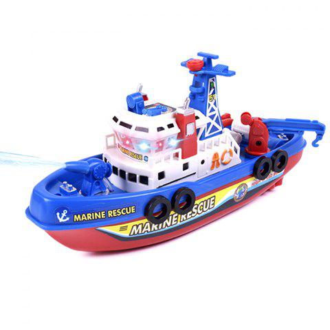 Electric Fire Boat for Children Model Toy - BLUE
