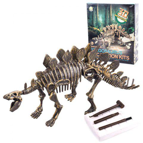 DIY Archaeological Excavation Dinosaur Fossil Children Assemble Toys  for Entertainment - multicolor D