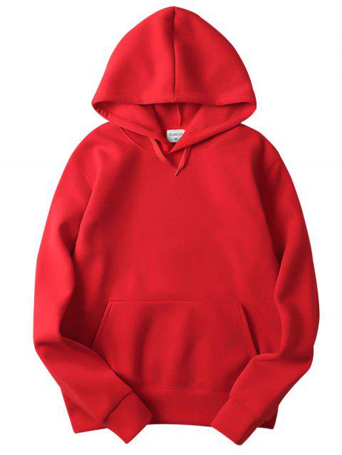 Trendy Comfortable Solid Color Stylish Hoodie for Men - RED 2XL