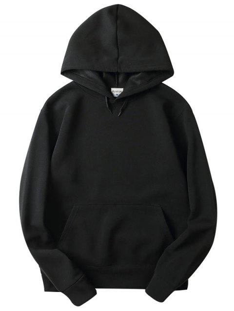 Trendy Comfortable Solid Color Stylish Hoodie for Men - BLACK XL