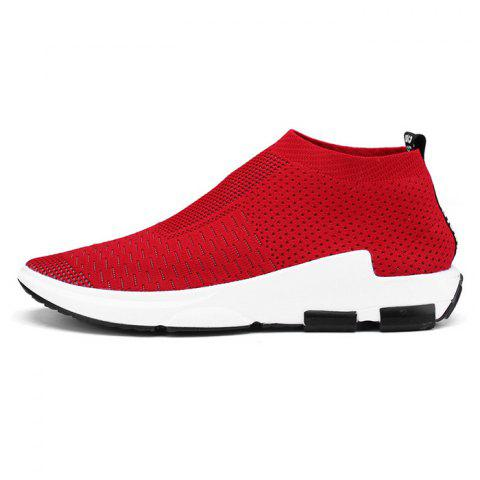 Sneakers respirants style simple pour hommes - Pamplemousse 37