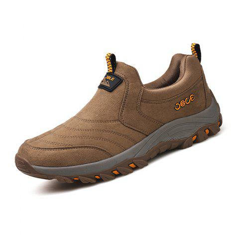 Suede PU Sneakers pour hommes - Brun Clair 41
