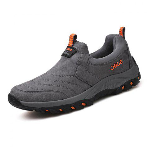 Suede PU Sneakers pour hommes - Gris 39
