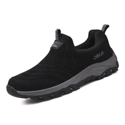 Suede PU Sneakers for Men - BLACK 41