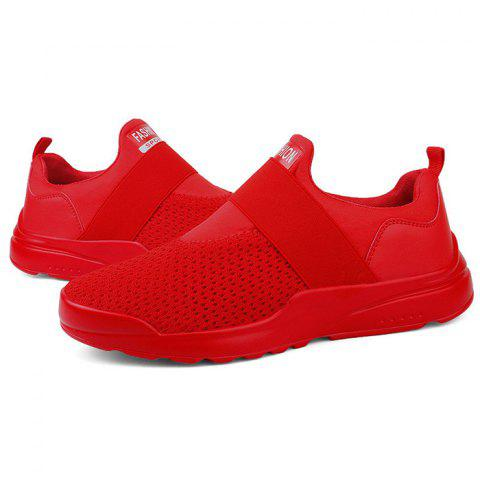 Air Mesh Casual Sneakers for Men - FIRE ENGINE RED 42