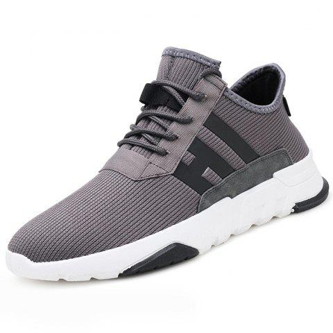 Fashion Non-slip Breathable Casual Shoes for Man - GRAY 39