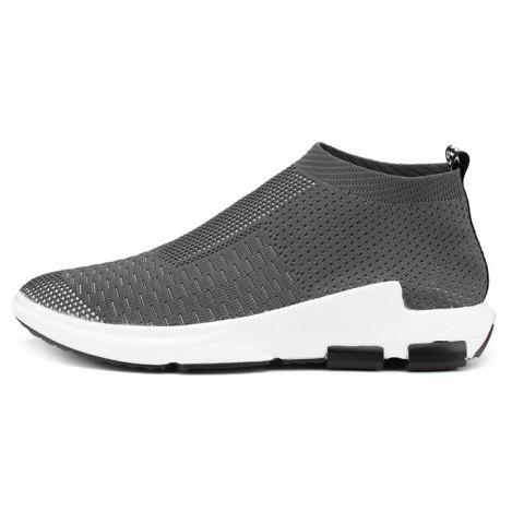 Simple Style Breathable Sneakers for Men - GRAY CLOUD 40