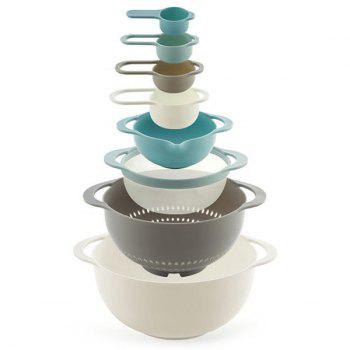 Rainbow Multi Function Bakery Bowls for Kitchen 8pcs - multicolor