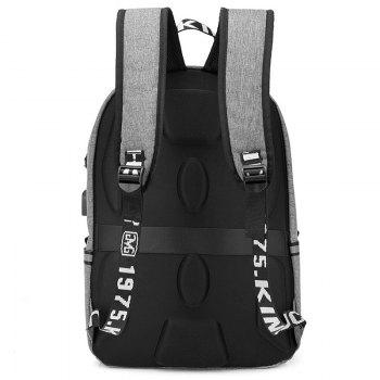 Fashion Large Capacity Man Backpack - GRAY CLOUD