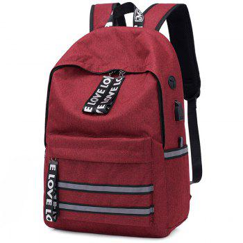 Fashion Large Capacity Man Backpack - RED WINE