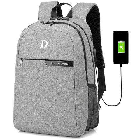 Creative Anti-theft Man Backpack - GRAY CLOUD