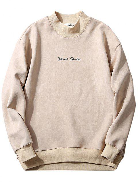 Trendy Comfortable Classic Loose Long Sleeve Sweater for Men - CRYSTAL CREAM 2XL