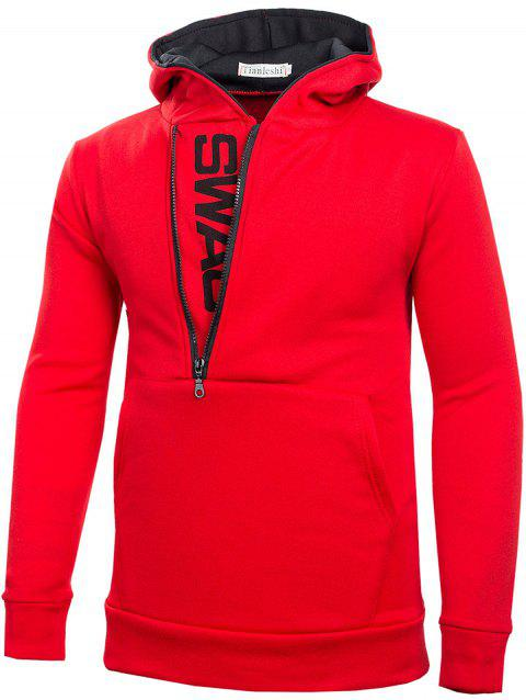 Stylish Casual Comfortable Cotton Slim Hoodie for Men - RED 6XL