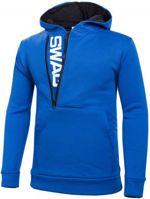 Stylish Casual Comfortable Cotton Slim Hoodie for Men - SAPPHIRE BLUE 6XL