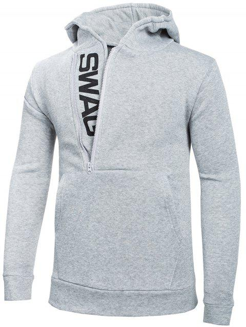 Stylish Casual Comfortable Cotton Slim Hoodie for Men - LIGHT GRAY 6XL