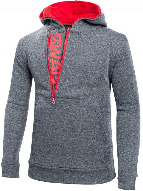 Stylish Casual Comfortable Cotton Slim Hoodie for Men - DARK GRAY 6XL