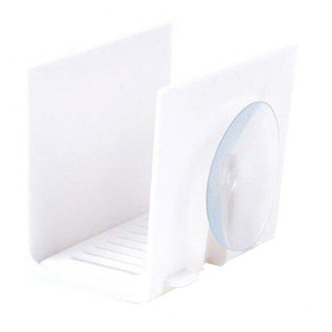 Suction Tray Type Sink Sponge Drain Rack - WHITE