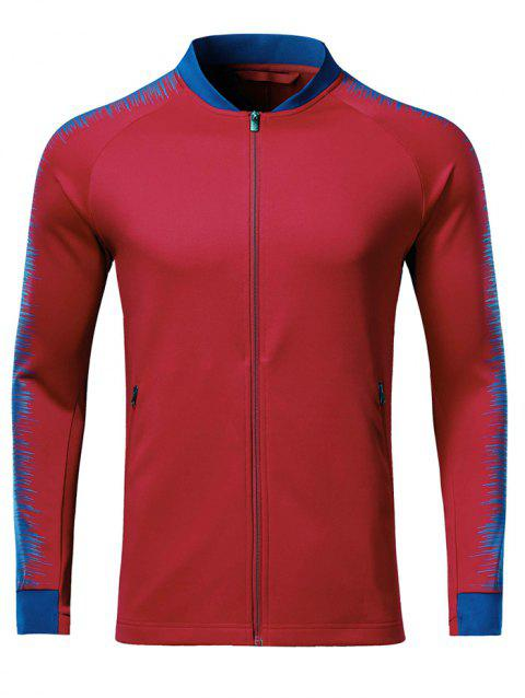 Men Fashionable Vertical Collar Sports Coat - CHILLI PEPPER 2XL