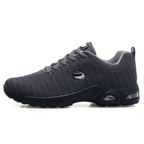 Breathable Woven Mesh Running Anti-slip Wild Shoes for Man - ASH GRAY 45