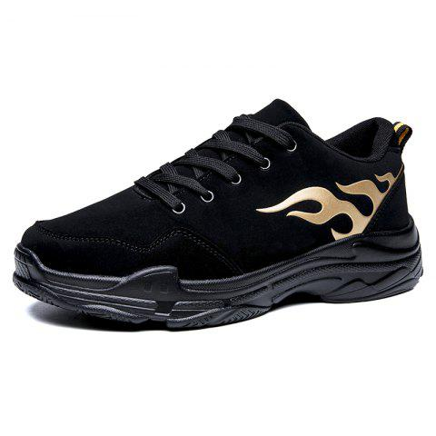Fashionable PU Sneakers for Men - GOLD 41