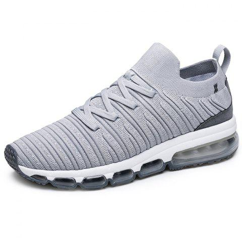 Onemix Leisure Comfortable Lace-up Casual Sneakers for Men - GRAY 44