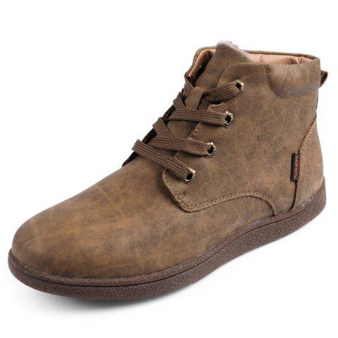 Thickening Cotton Casual Boots for Men - DARK KHAKI 42