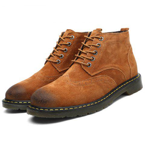 Fashionable Casual Boots for Men - BROWN 46