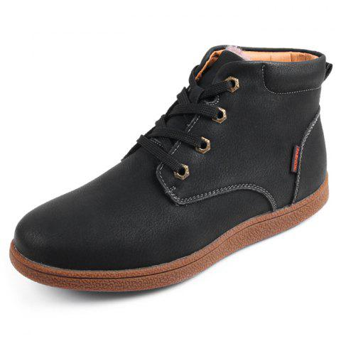 Thickening Cotton Casual Boots for Men - BLACK 46